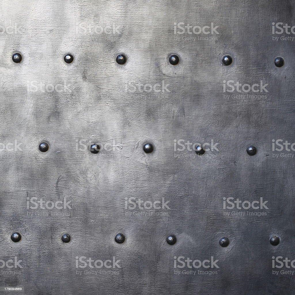 Noir or armour texture de plaque métallique avec rivets - Photo