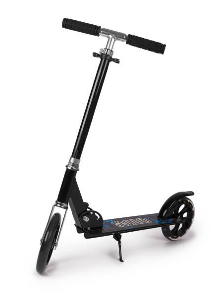 Black metal scooter stock photo