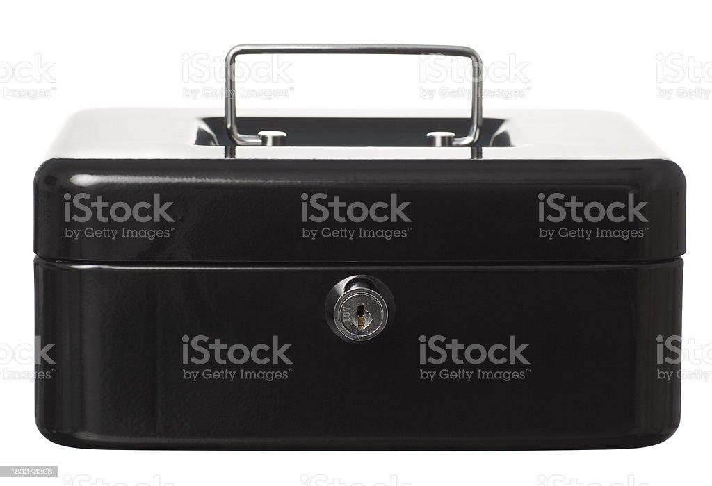 Black metallic box. royalty-free stock photo