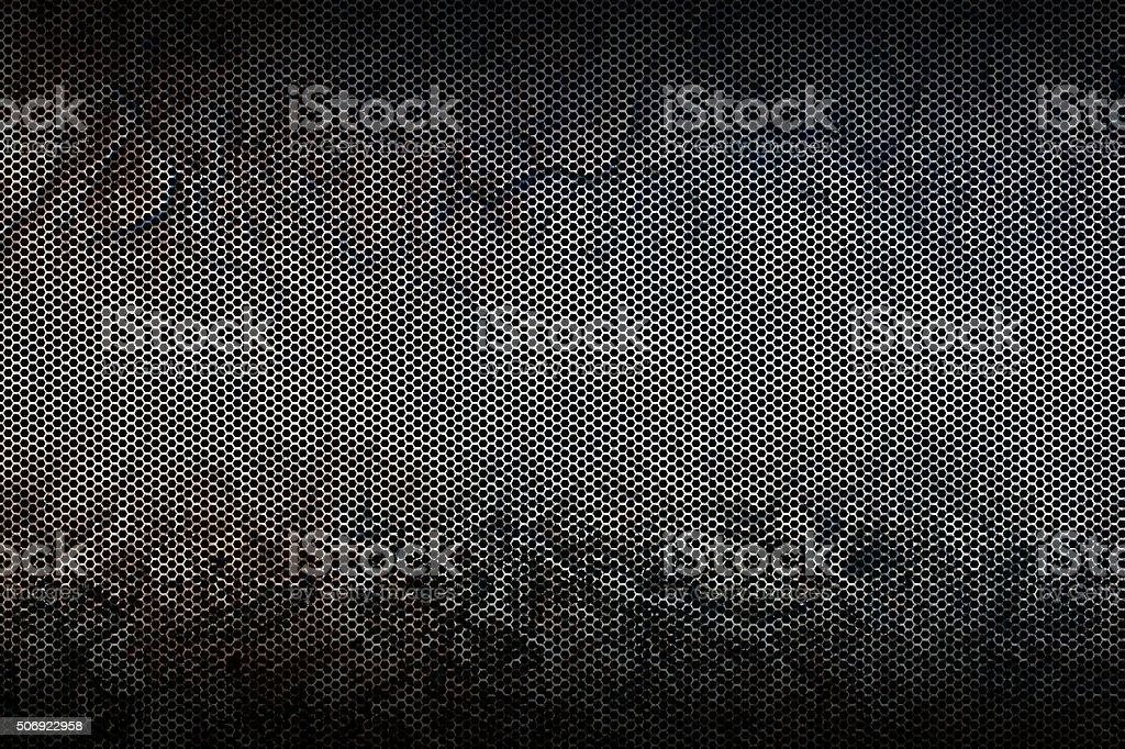 black metallic mesh background texture stock photo