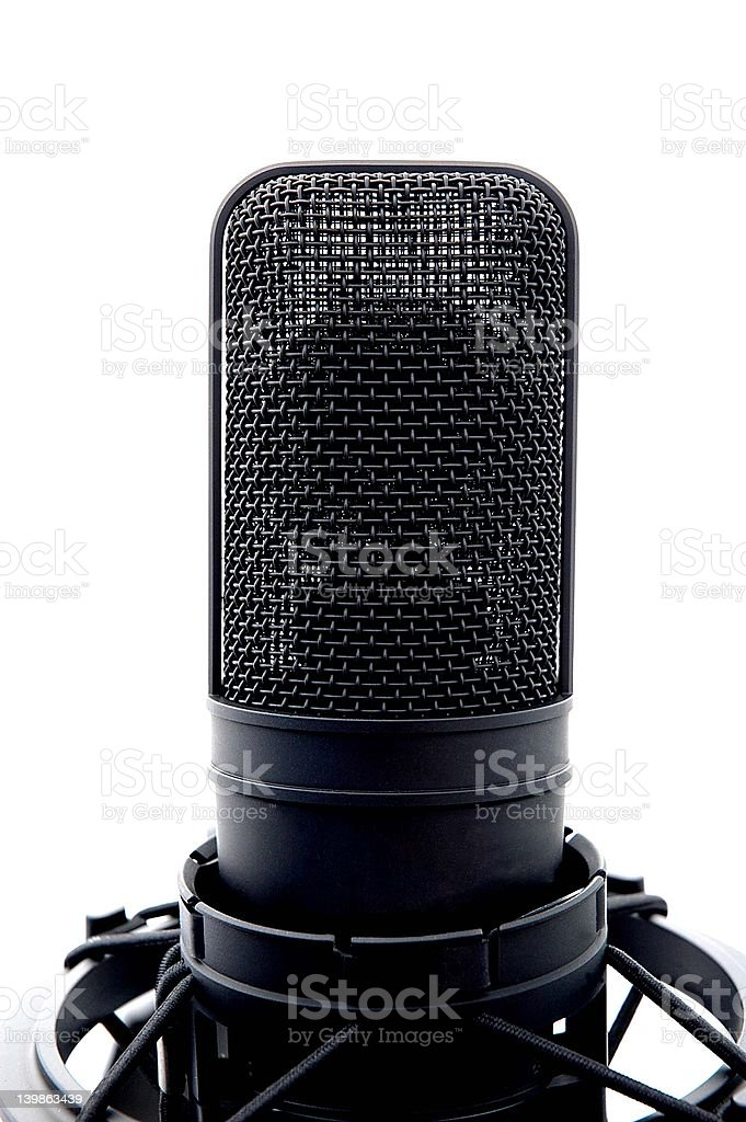 Black Microphone on Stand royalty-free stock photo