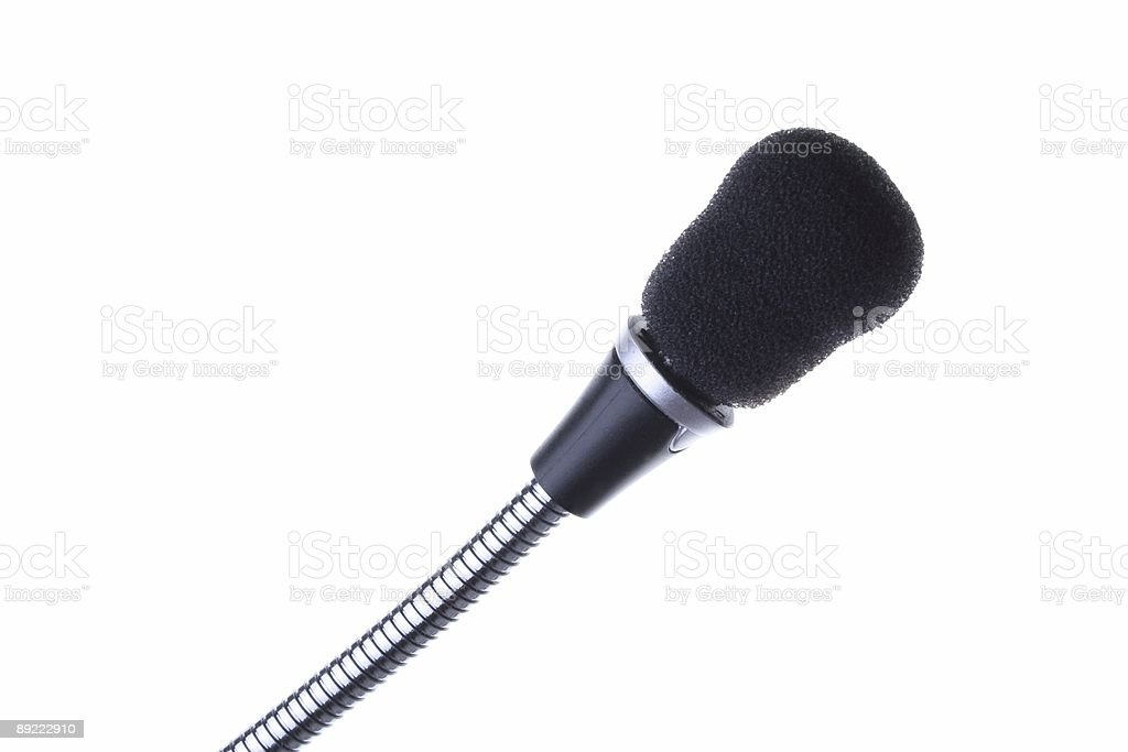 black microphone on white royalty-free stock photo