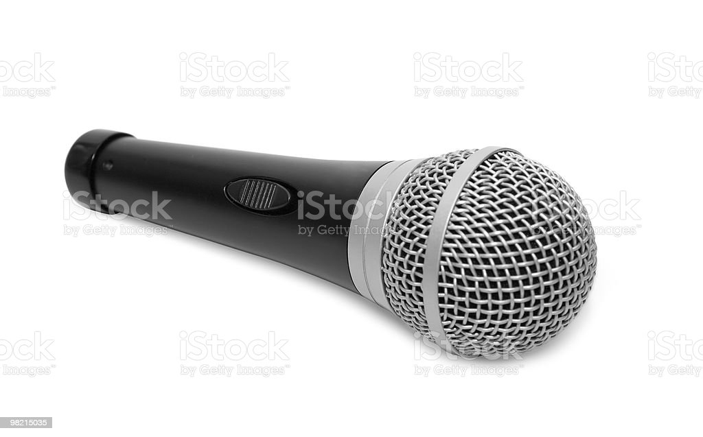 black microphone royalty-free stock photo
