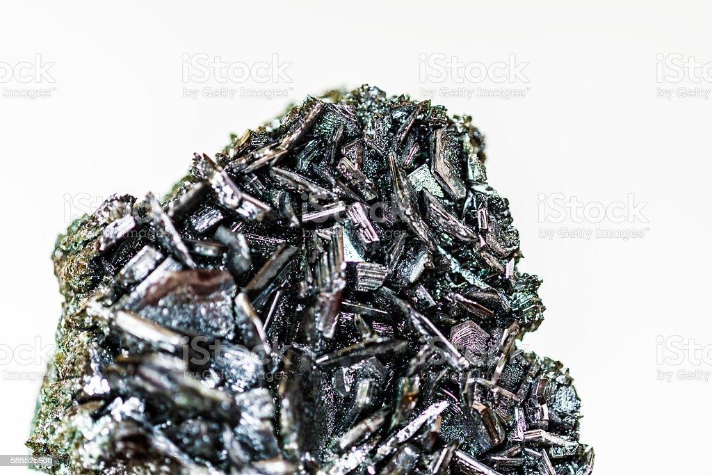 black mineral macro closeup stock photo