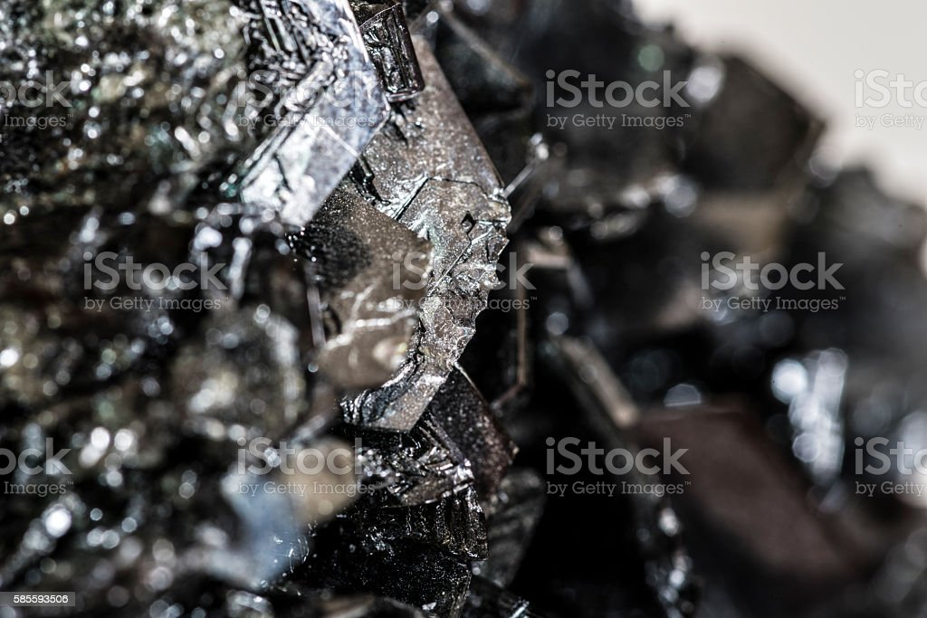 black mineral macro closeup stock photo