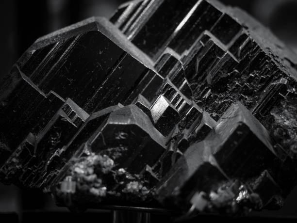 svart mineral kvarts textur natur abstrakt bakgrund - kristall bildbanksfoton och bilder