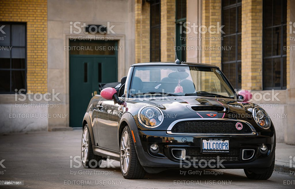 Black Mini Convertible Stock Photo More Pictures Of Architecture