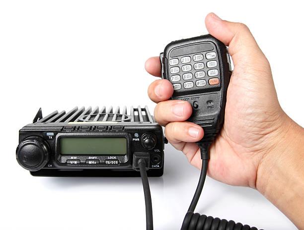 black mobile radio transceiver - ham radio stock photos and pictures
