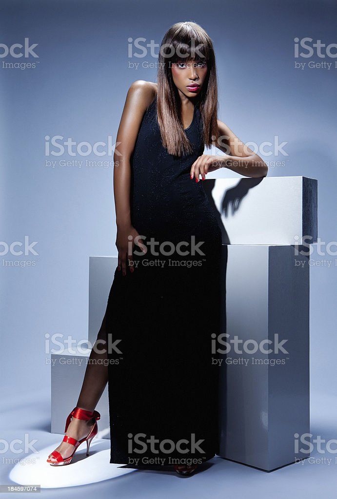 Black Model Wearing Red Shoes Stock Photo More Pictures Of Adult