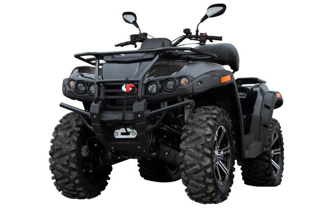 Black modern ATV. Black modern ATV, isolated on white background. quadbike stock pictures, royalty-free photos & images