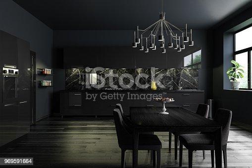 istock Black Modern Kitchen Interior 969591664
