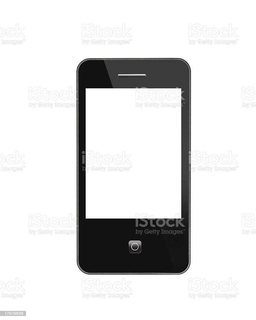 black modern mobile phone royalty-free stock photo
