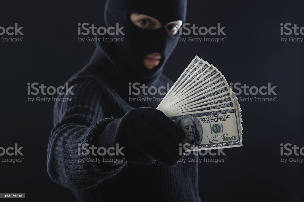 Black Money stock photo