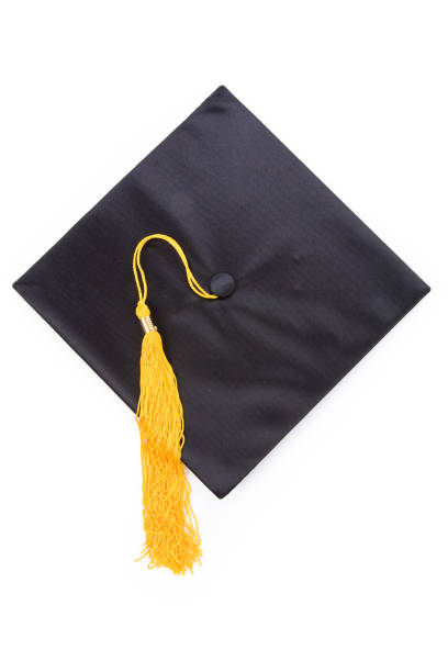 black mortarboard - graduation cap stock pictures, royalty-free photos & images