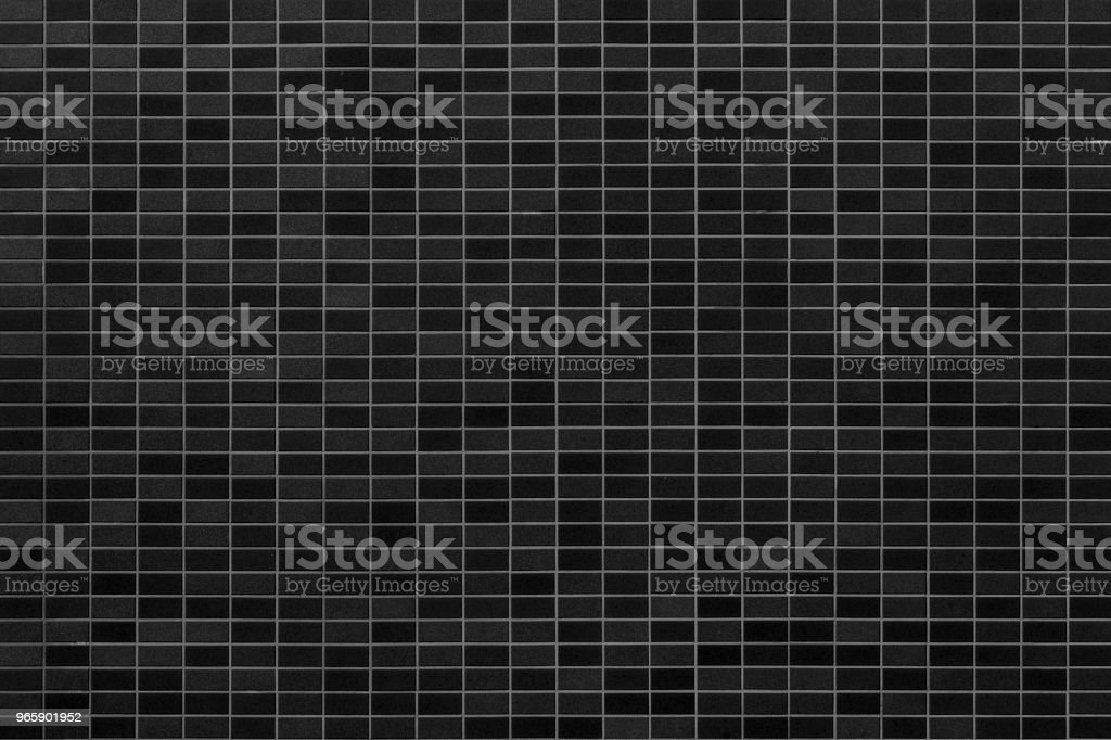 Black mosiac tile wall background - Royalty-free Architecture Stock Photo