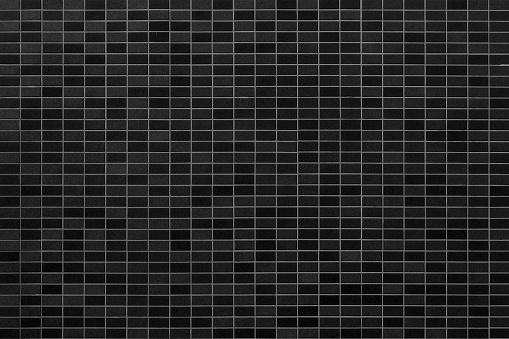 Zwarte Mosiac Tegel Muur Achtergrond Stockfoto en meer beelden van Architectuur