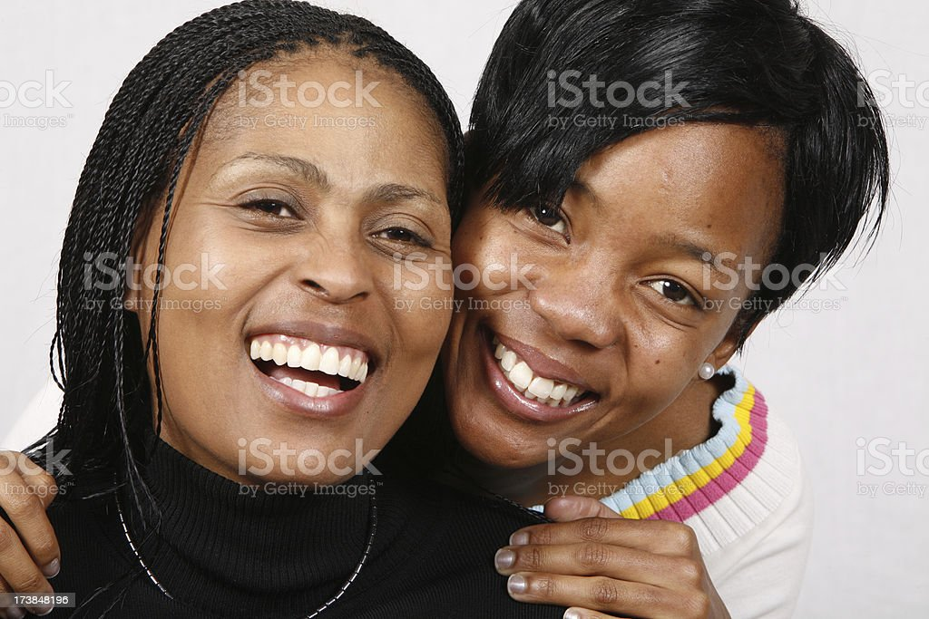 Black mother and daughter portrait royalty-free stock photo