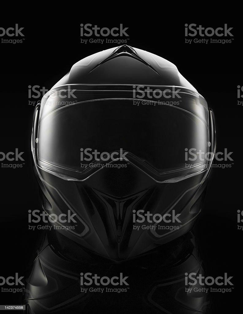 black moto helmet background stock photo