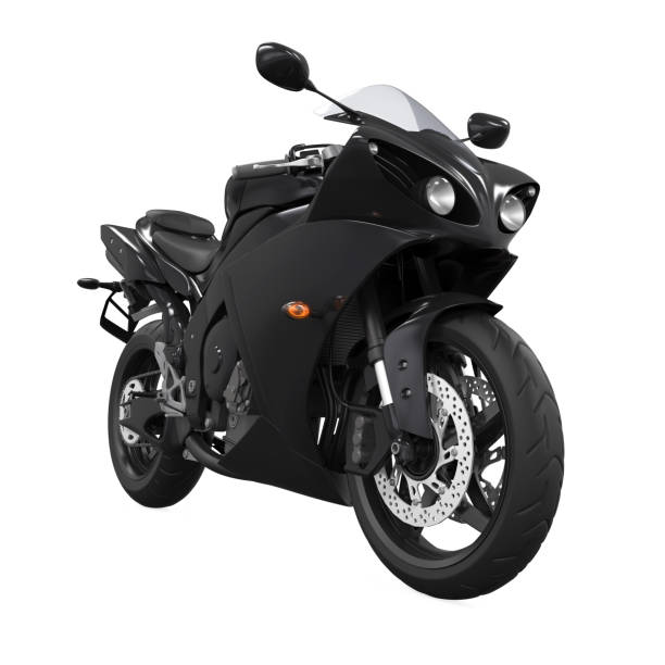 Black Motorcycle Isolated stock photo