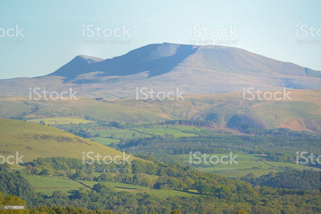 Black Mountain in Carmarthenshire stock photo