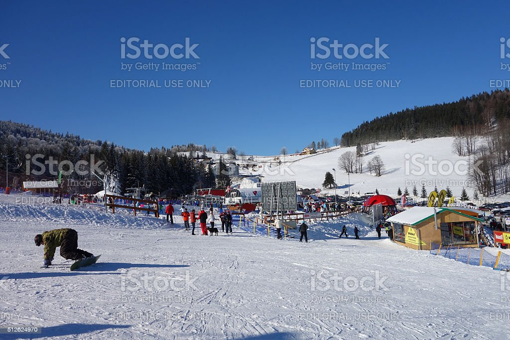 Black Mountain ski resort in Poland stock photo