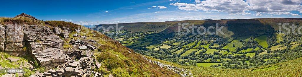 Black Mountains Wales royalty-free stock photo
