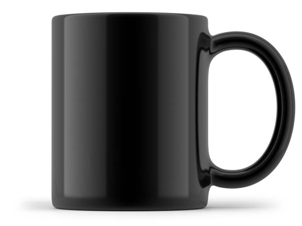 Black Mug Isolated stock photo
