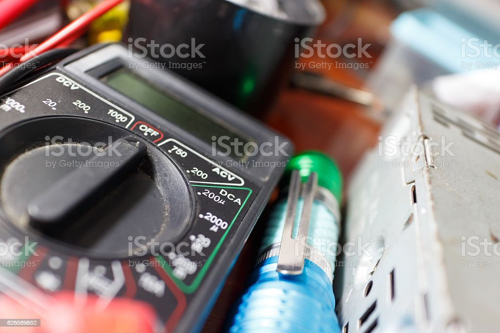 black multimeter stock photo