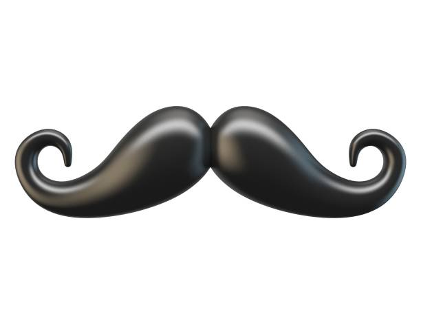 Black mustache 3D Black mustache 3D rendering illustration isolated on white background mustache stock pictures, royalty-free photos & images
