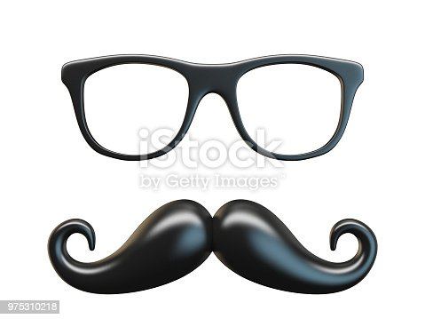 istock Black mustache and glasses 3D 975310218