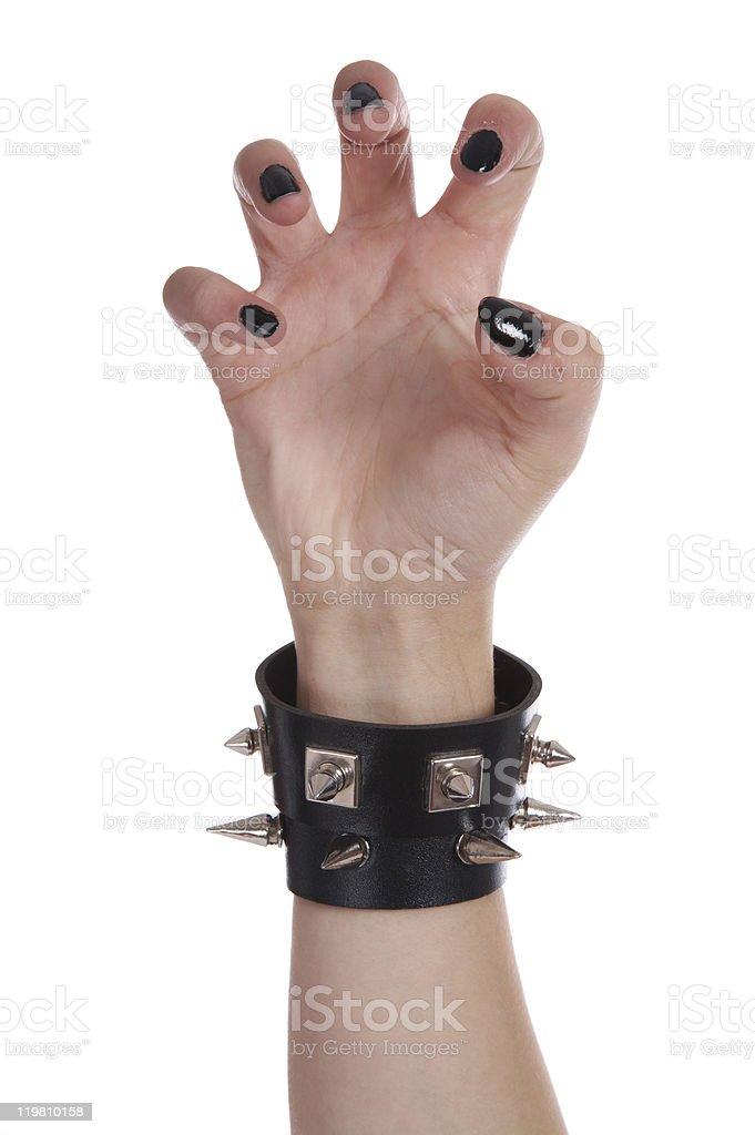 Black nails and bracelet royalty-free stock photo