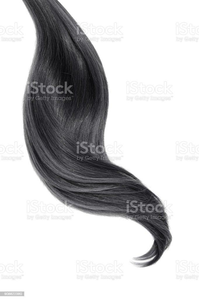 Cabelo natural preto sobre fundo branco - foto de acervo