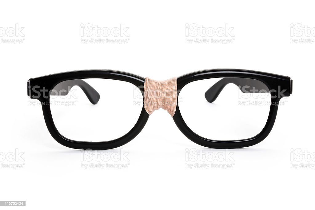 Black nerd Glasses stock photo
