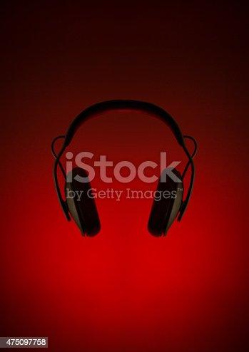 Large black noise canceling headphones