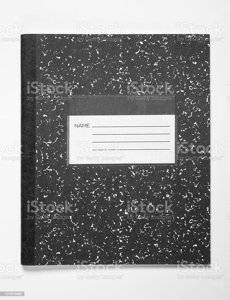 Black Note book stock photo