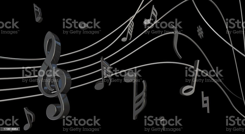black notes royalty-free stock photo