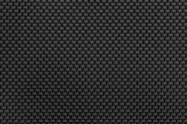 black nylon fabric texture background for design. - nylon texture stock pictures, royalty-free photos & images