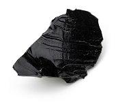 Black obsidian piece