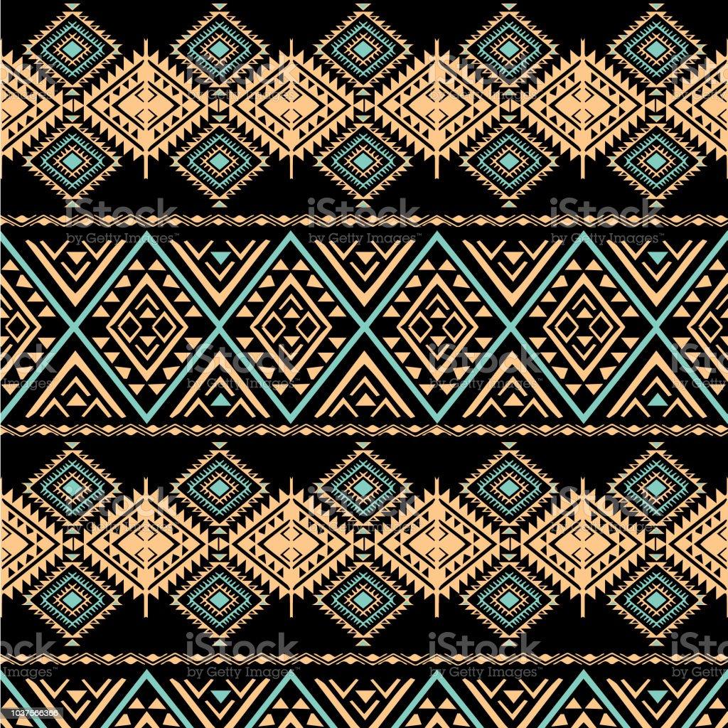 black ocean of tribal elements stock photo