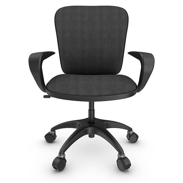 schwarzer büro stuhl - bürostuhl stock-fotos und bilder