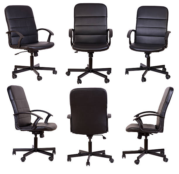 Black office chair stock photo