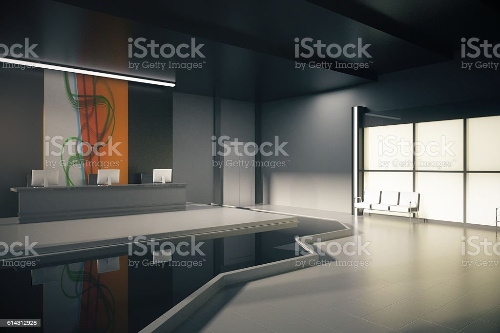 Black office lobby – Foto