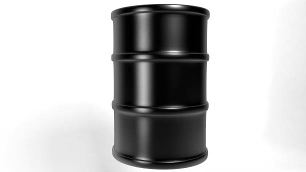 Black Oil Drum A black oil drum for oil industry presents drum container stock pictures, royalty-free photos & images