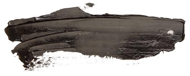 Schwarze Ölstruktur Farbe Flecken Pinselstrich Striche – Foto