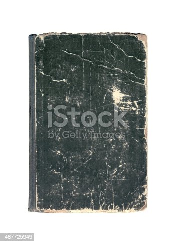 121305595 istock photo Black old cover of book 487725949