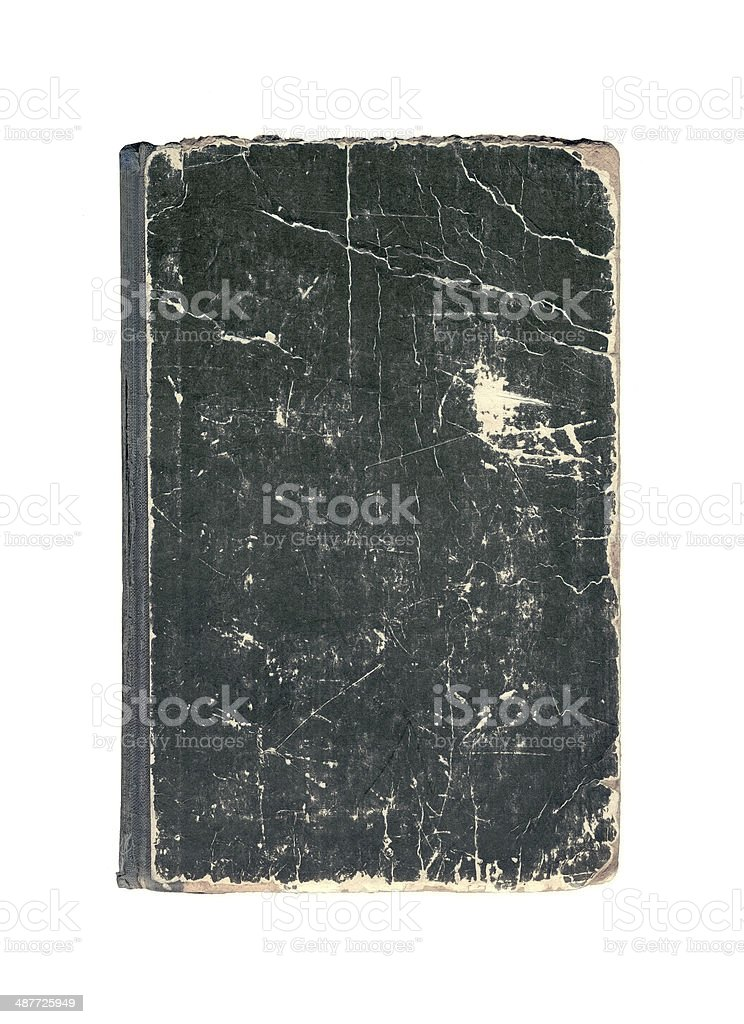 Black old cover of book stock photo