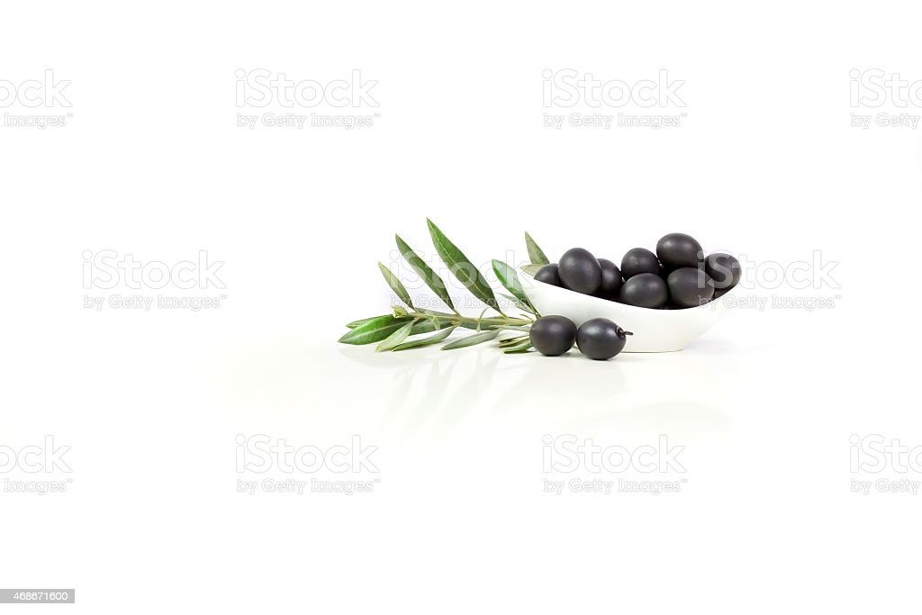 Negro, aceitunas - foto de stock
