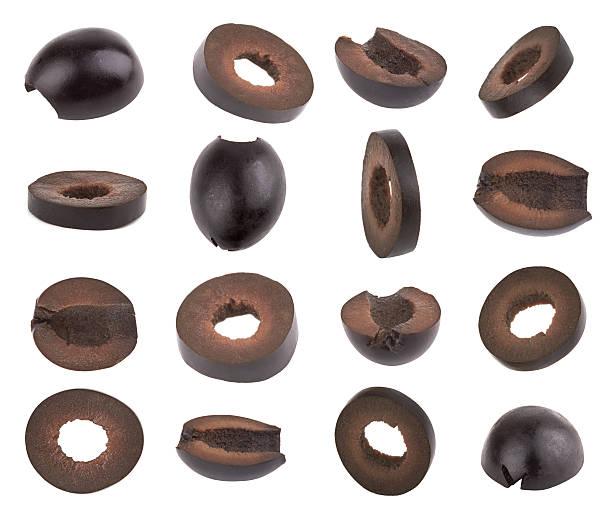 schwarze oliven - schwarze olive stock-fotos und bilder