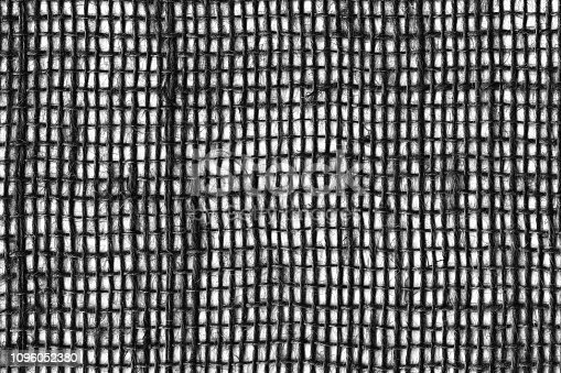 1148387720 istock photo Black on White linen canvas. The background image, texture. close-up 1096052380
