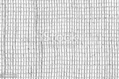 1148387720 istock photo Black on White linen canvas. The background image, texture. close-up 1096054010